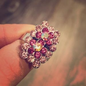 Jewelry - Pink crystal adjustable Ring